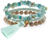 Panacea Amazonite Stretch Bracelet Set, Mint