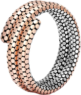 John Hardy Women's Dot Double Coil Bracelet in Sterling Silver and 18K Rose Gold