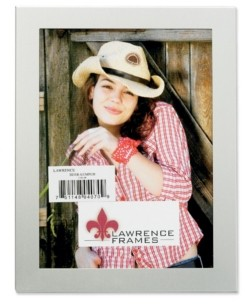 """Lawrence Frames Brushed Silver Metal Picture Frame - 8"""" x 10"""""""