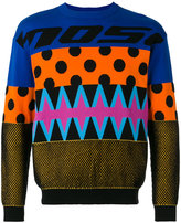 Moschino patchwork effect sweater