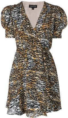 Saloni Ink Tiger dress