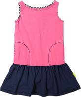 Morgan & Milo Pink Cupcake & Navy Sleeveless Rose Dress - Toddler & Girls
