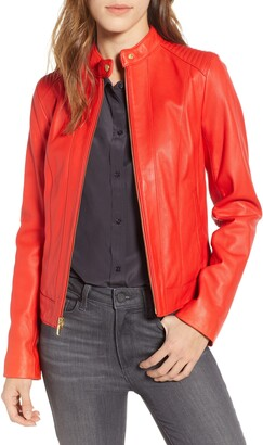 Cole Haan Signature Leather Moto Jacket