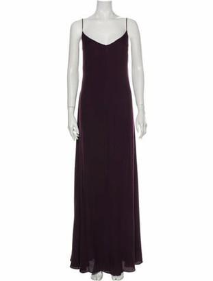 Reformation V-Neck Long Dress w/ Tags Purple