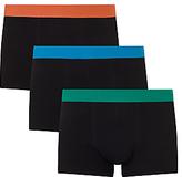 John Lewis Colour Waistband Trunks, Pack of 3, Orange/Blue/Green
