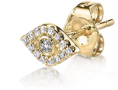 Sydney Evan Single Mini Bezel Evil Eye Stud with Diamonds