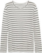 Etoile Isabel Marant Aaro Linen And Cotton-blend Slub Jersey Top - Ecru
