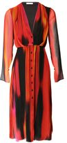 Matthew Williamson Red Calypsonian Sunset V-Neck Shirt Dress