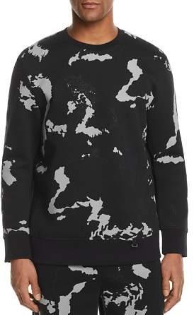BLACKBARRETT by NEIL BARRETT Globe Print Crewneck Sweatshirt