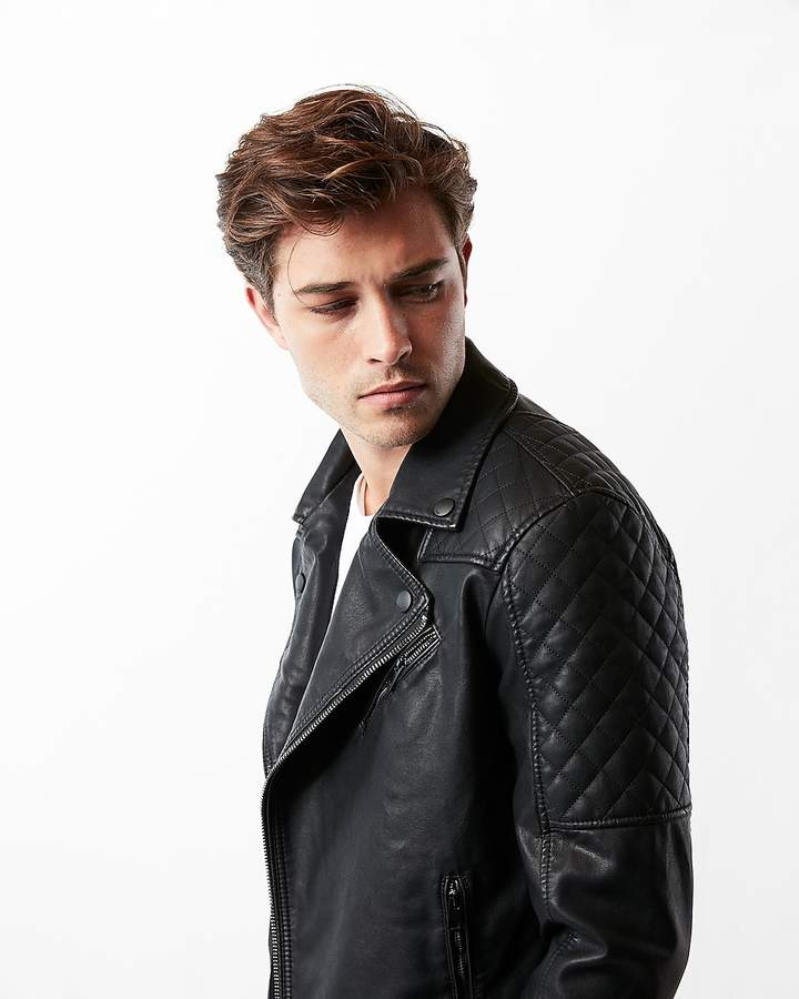 b6aebc625 Minus The) Leather Quilted Asymmetrical Moto Jacket