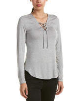 Romeo & Juliet Couture Lace-Up Front Top
