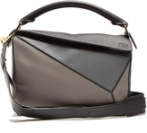 Loewe Puzzle contrast-panel leather bag