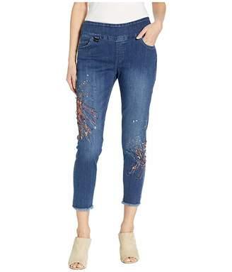 Lisette L Montreal Betty Denim Thinny Crop Jeans with Paint Splash
