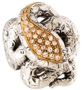 Roberto Cavalli Two-Tone Crystal Serpent Ring