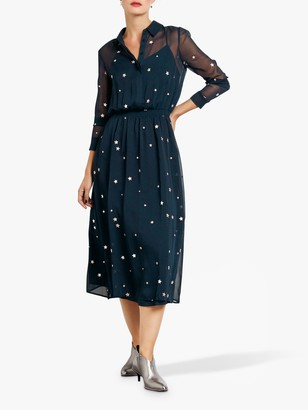 Hush Gloria Shirt Dress, Navy