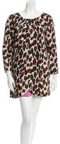 Rachel Comey Silk Leopard Print Dress