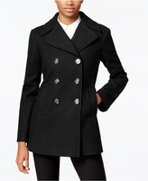 Kenneth Cole Double-Breasted Peacoat, Only at Macy's