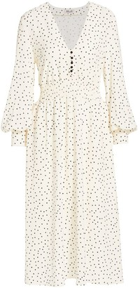 Baum und Pferdgarten Romance & Rituals Adison Dot-Print Shirred-Waist Dress