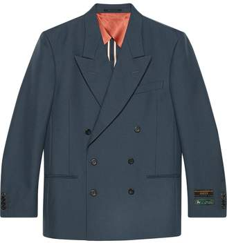 Gucci Drill jacket with sartorial labels