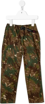 Denim Dungaree Camouflage-Print Elasticated Trousers