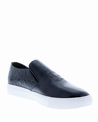 Robert Graham Men's Calvert Skull Slip-On Sneakers