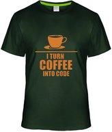 Eagle u2 Men's custom T-shirt I turn Coffee into code