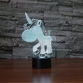 3D Illusion Unicorn Shaped Soft Multi-colored change LED Table Desk Night light USB Powered or Battery Powered for Home Bedroom Decorations (Unicorn)(unicorn6)