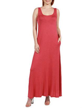 24/7 Comfort Apparel Sleeveless Tank Maxi Dress With Pockets
