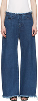 Marques Almeida Blue Oversized Jeans