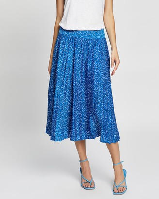 Review Women's Blue Pleated skirts - Party Pop Skirt - Size One Size, 14 at The Iconic