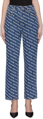 Alexander Wang 'Bluff' logo print flared jeans