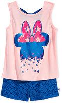 Disney Disney's® Minnie Mouse 2-Pc. Graphic-Print Tank Top & Shorts, Toddler & Little Girls (2T-6X)