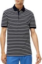 Lacoste Stripe Pique Slim Fit Polo Shirt