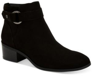 Giani Bernini Putneyy Memory Foam Block-Heel Booties, Created for Macy's Women's Shoes