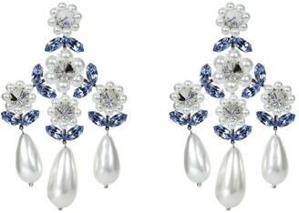 Simone Rocha Pearl Triple Drop Chandelier Earrings