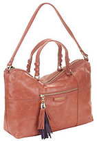 B. Makowsky As Is Kel Glazed Leather Zip Top Satchel