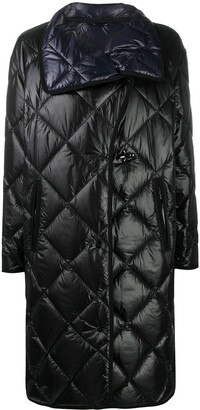 Fay Diamond-Quilted Mid-Length Coat