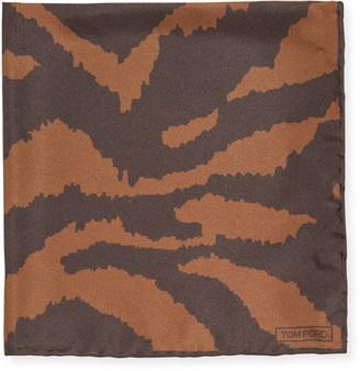 Tom Ford Zebra-Print Silk Pocket Square