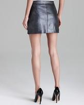 Milly Leather Skirt - Metallic Stretch Mini