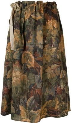 Pierre Louis Mascia Floral Tapestry-Print Skirt