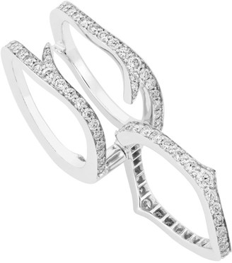 Stephen Webster White Gold and Diamond Thorn Convertible Ring