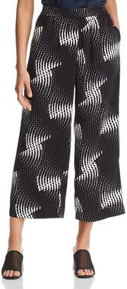 Kenneth Cole Dot-Print Cropped Pants