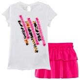 Diesel White Tee and Pink Skirt Set