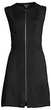 Misook Women's Knit & Ponte Zip-Front Mini Dress
