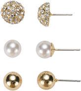 Gloria Vanderbilt 3-pr. Ball Stud Earrings