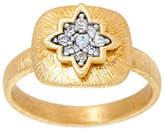 Genesi 18K Clad White Topaz Starburst Ring