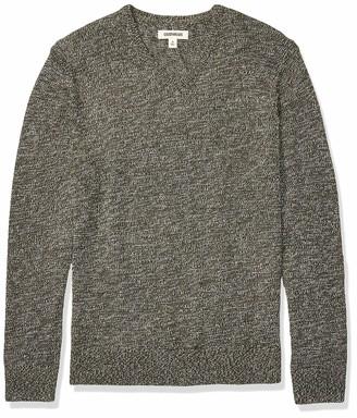 Goodthreads Amazon Brand Men's Supersoft Marled V-Neck Sweater