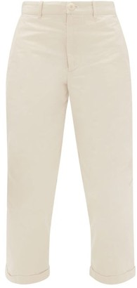 Toogood The Bricklayer Cotton-canvas Cropped Trousers - Cream