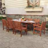 Beachcrest Home Amabel 9 Piece Patio Dining Set