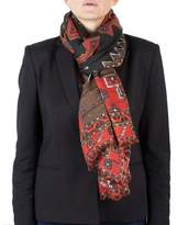Givenchy Women's Native American Pattern Virgin Wool Scarf Large.